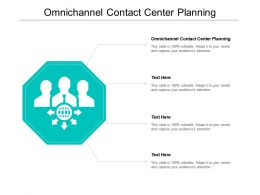 Omnichannel Contact Center Planning Ppt Powerpoint Presentation Deck Cpb
