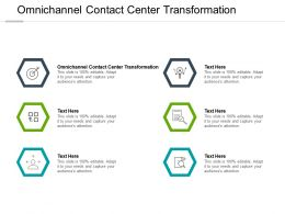 Omnichannel Contact Center Transformation Ppt Powerpoint Presentation Pictures Graphics Cpb