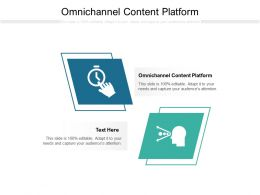 Omnichannel Content Platform Ppt Powerpoint Presentation Icon Model Cpb