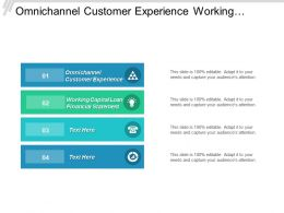 Omnichannel Customer Experience Working Capital Loan Financial Statement Cpb