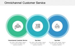 Omnichannel Customer Service Ppt Powerpoint Presentation Layouts Icons Cpb