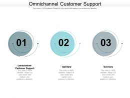 Omnichannel Customer Support Ppt Powerpoint Presentation Infographic Template Examples Cpb