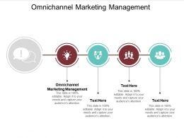 Omnichannel Marketing Management Ppt Powerpoint Presentation Gallery Designs Download Cpb