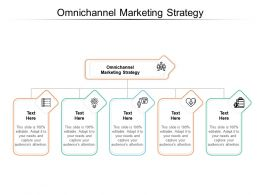 Omnichannel Marketing Strategy Ppt Powerpoint Presentation Model Professional Cpb