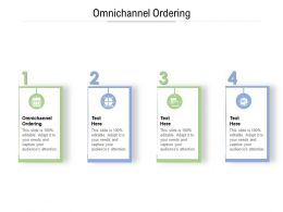 Omnichannel Ordering Ppt Powerpoint Presentation Infographic Template Structure Cpb