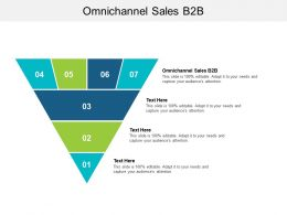 Omnichannel Sales B2b Ppt Powerpoint Presentation Gallery Guidelines Cpb