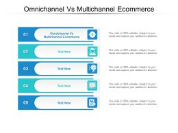 Omnichannel Vs Multichannel Ecommerce Ppt Powerpoint Presentation Outline Cpb