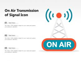 On Air Transmission Of Signal Icon