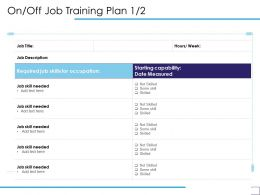 On Off Job Training Plan Skills Ppt Powerpoint Presentation Gallery Introduction