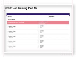 On Off Job Training Plan Skills Ppt Powerpoint Presentation Slides Layout Ideas