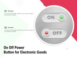 On Off Power Button For Electronic Goods