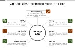 On Page Seo Techniques Model Ppt Icon