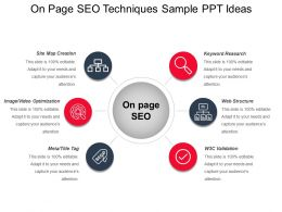 On Page Seo Techniques Sample Ppt Ideas