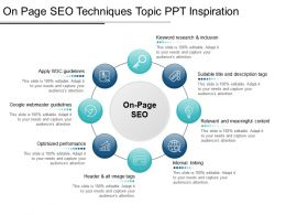 On Page Seo Techniques Topic Ppt Inspiration