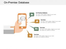 On Premise Database Ppt Powerpoint Presentation Infographics Outfit Cpb