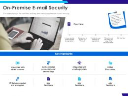 On Premise E Mail Security Data Ppt Powerpoint Presentation Inspiration Slide Download