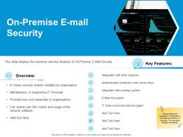 On Premise E Mail Security Ppt Powerpoint Presentation Summary Demonstration