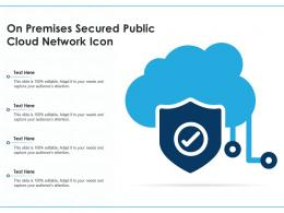 On Premises Secured Public Cloud Network Icon