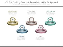 On Site Backing Template Powerpoint Slide Background