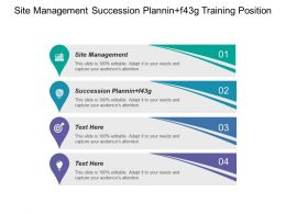 On Site Management Succession Planning Training Position