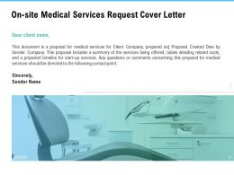 On Site Medical Services Request Cover Letter Ppt Powerpoint Download