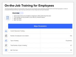 On The Job Training For Employees Direct Instructions Ppt Powerpoint Slides