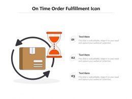 On Time Order Fulfillment Icon