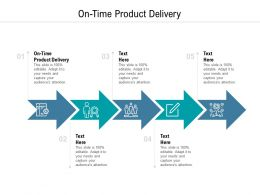 On Time Product Delivery Ppt Powerpoint Presentation Pictures Background Cpb