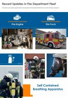 Ona Page Recent Updates In Fire Department Fleet Report Infographic PPT PDF Document