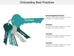 Onboarding Best Practices Ppt Powerpoint Presentation Gallery Example Cpb