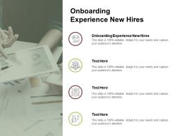 Onboarding Experience New Hires Ppt Powerpoint Presentation File Visual Aids Cpb