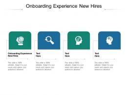 Onboarding Experience New Hires Ppt Powerpoint Presentation Ideas Deck Cpb