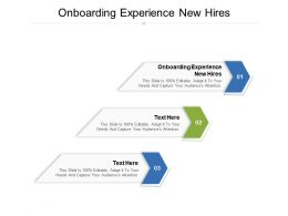 Onboarding Experience New Hires Ppt Powerpoint Presentation Model Slides Cpb