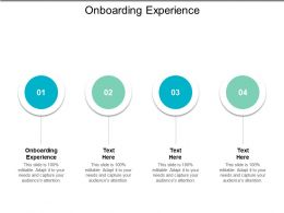 Onboarding Experience Ppt Powerpoint Presentation File Maker Cpb