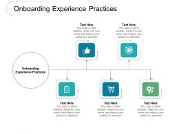 Onboarding Experience Practices Ppt Powerpoint Presentation Model Infographics Cpb