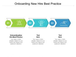 Onboarding New Hire Best Practice Ppt Powerpoint Presentation Infographic Cpb
