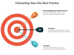 Onboarding New Hire Best Practice Ppt Powerpoint Presentation Slides Example Topics Cpb