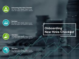Onboarding New Hires Checklist Ppt Powerpoint Presentation Ideas Background Designs Cpb