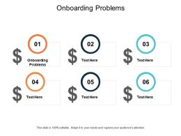 Onboarding Problems Ppt Powerpoint Presentation Slides Format Cpb