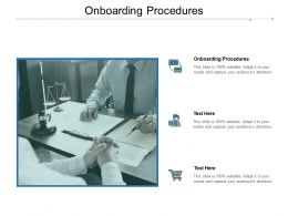 Onboarding Procedures Ppt Powerpoint Presentation Professional Show Cpb