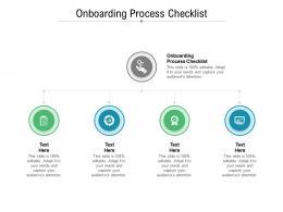 Onboarding Process Checklist Ppt Powerpoint Presentation Portfolio Designs Download Cpb