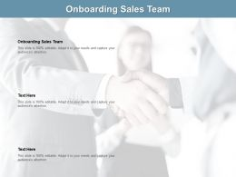 Onboarding Sales Team Ppt Powerpoint Presentation Inspiration Graphics Tutorials Cpb