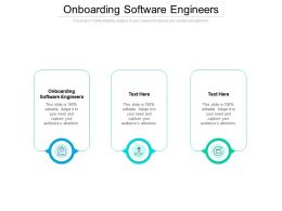 Onboarding Software Engineers Ppt Powerpoint Presentation Ideas Clipart Cpb