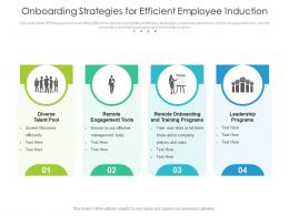Onboarding Strategies For Efficient Employee Induction