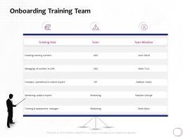 Onboarding Training Team Marketing Ppt Powerpoint Presentation File