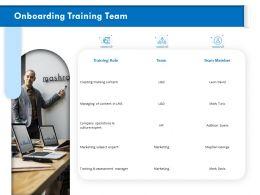 Onboarding Training Team Subject Ppt Powerpoint Presentation Portfolio Examples