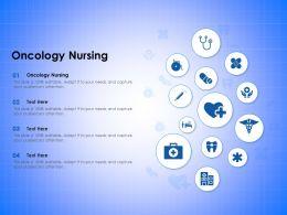 Oncology Nursing Ppt Powerpoint Presentation Model Layout Ideas
