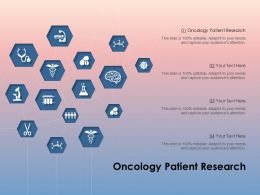 Oncology Patient Research Ppt Powerpoint Presentation Slides Display