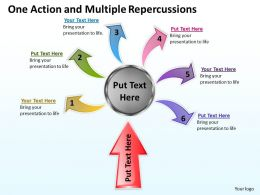 One Action And Multiple Repercussions Powerpoint Slides Presentation Diagrams Templates
