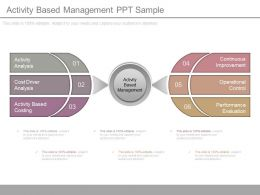 One Activity Based Management Ppt Sample